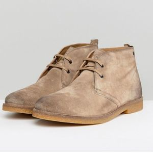 Base London Perry Suede Desert Boots Stone 42/9